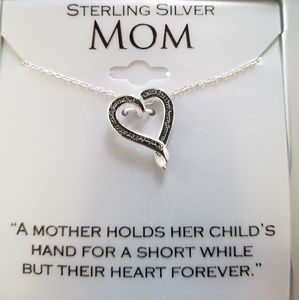 """Jewelry - NWT Sterling Silver """"Mom"""" Necklace"""